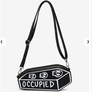 "LOUNGEFLY ""Occupied"" COFFIN Crossbody Bag!"